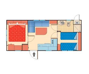 Bungalow casa mobile tipo A