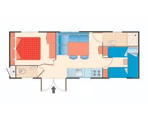 Bungalow casa mobile tipo B
