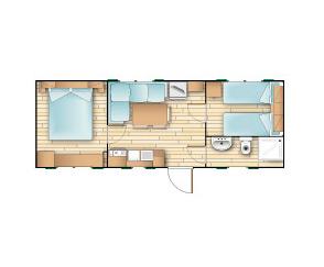 Bungalow casa mobile tipo C