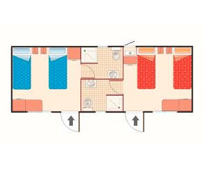 Bungalow casa mobile tipo D
