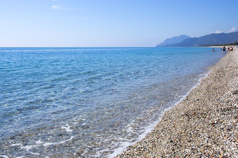 La spiaggia del campeggio in Sardegna