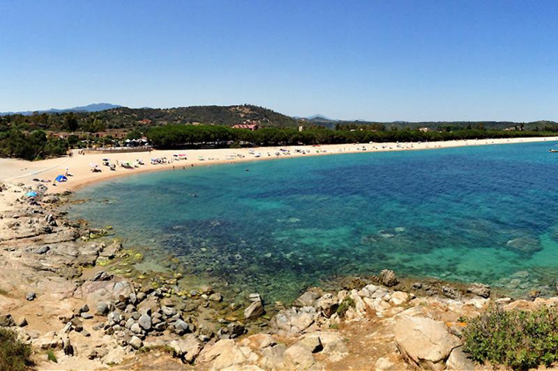 La spiaggia Torre di Bari Sardo in Sardegna